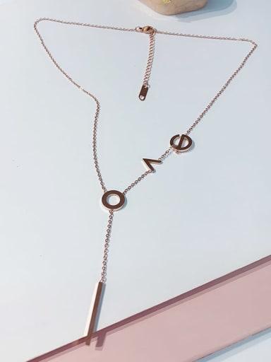 Titanium Letter Love Trend Initials Necklace