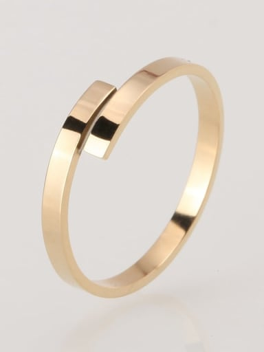54MM US7 Stainless steel Smooth Minimalist Band Ring