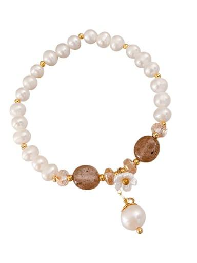 Alloy Imitation Pearl Trend Beaded Bracelet