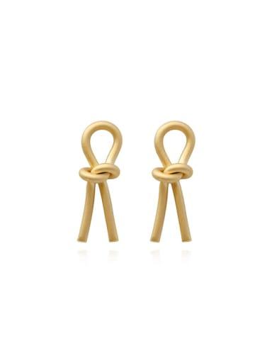 Copper Hollow Irregular Minimalist Stud Earring