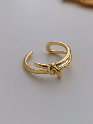 Copper Bowknot Minimalist Blank Ring