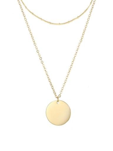 golden Stainless steel Geometric Minimalist Necklace