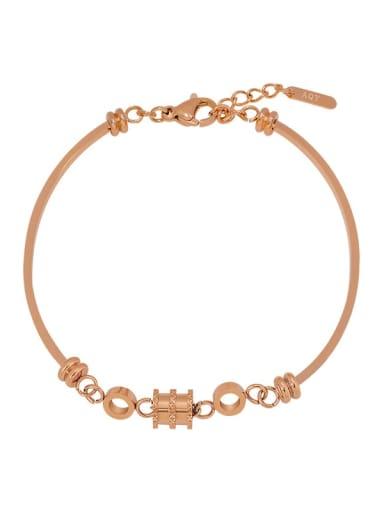 Alloy Rhinestone Geometric Minimalist Bracelet