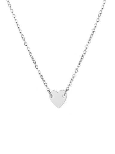 Stainless steel Love heart 7mm Necklace