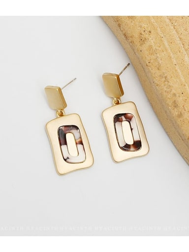 Dumb gold Copper Geometric Vintage Drop Earring