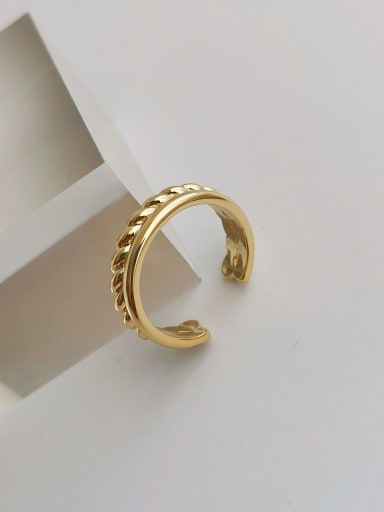 Copper Geometric Minimalist Stackable Ring