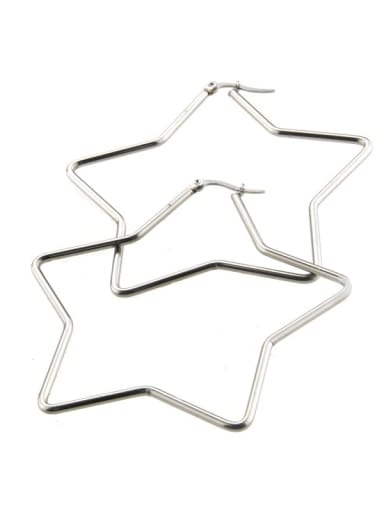Platinum plating Stainless steel hollow Star Minimalist Chandelier Earring