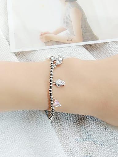 3 Alloy Cubic Zirconia Geometric Vintage Beaded Bracelet