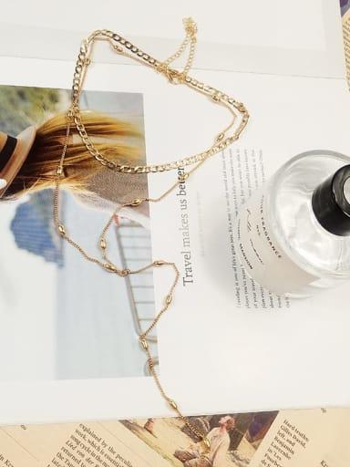 Brass Trend Lariat Necklace