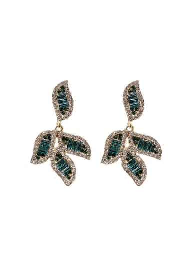 Alloy Cubic Zirconia Tree leaf Statement Chandelier Earring