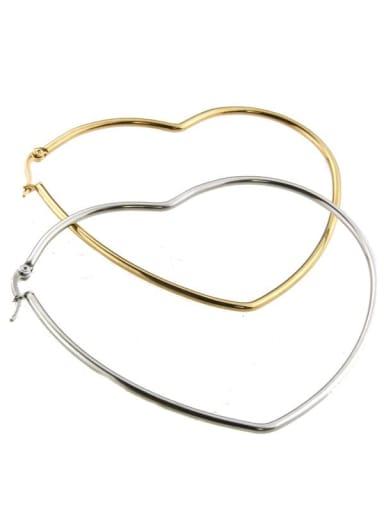 Stainless steel Heart Minimalist Hoop Earring