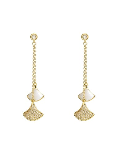 Zinc Alloy Cubic Zirconia White Enamel Trend Drop Earring/Necklaces