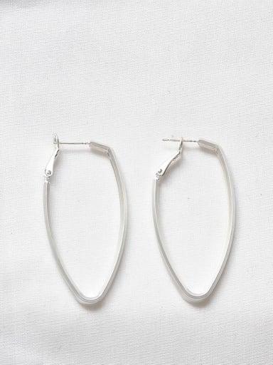 Dumb Silver Copper Hollow Geometric Minimalist Drop Earring