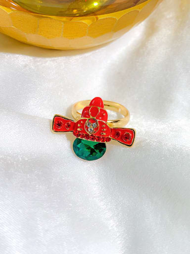 Guangong hat Alloy+ Red Face Or Hat Statement Statement Ring/Free Size Ring