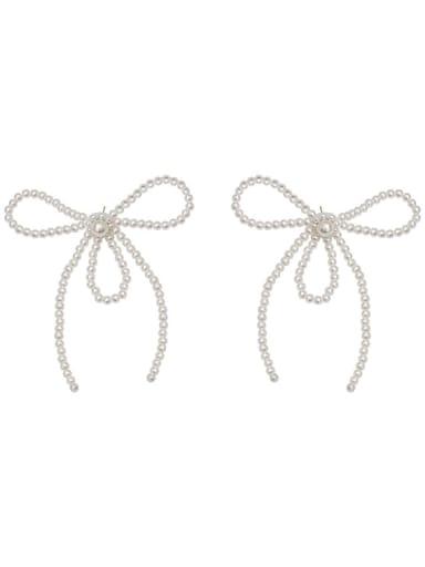 Imitation Pearl Bowknot Minimalist Stud Earring