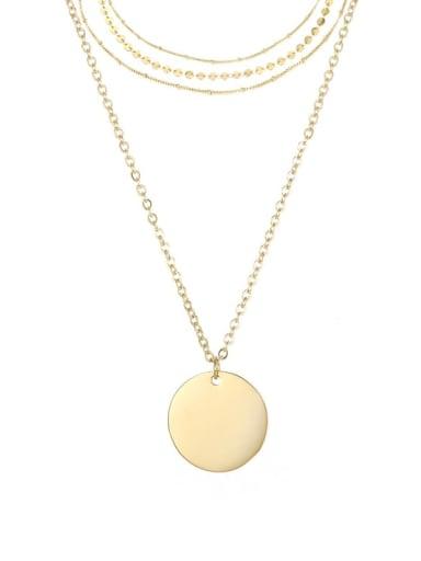 Titanium Geometric Minimalist Initials Necklace