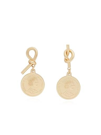 Copper Geometric Ethnic Huggie Earring
