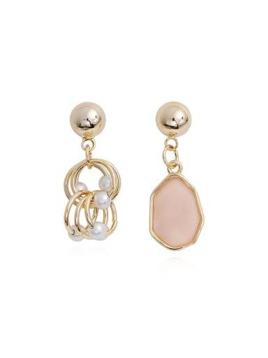 Copper Resin Geometric Bohemia Drop Earring