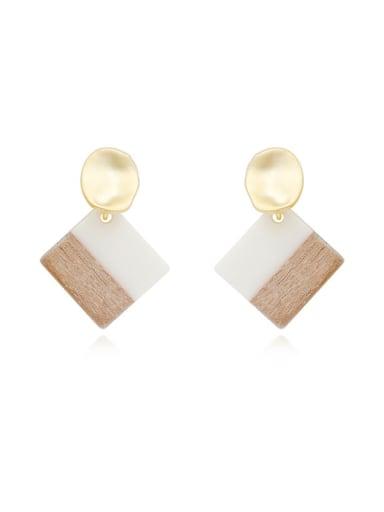 Copper Shell Geometric Minimalist Drop Earring