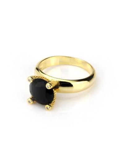 Brass Opal Geometric Vintage Band Ring