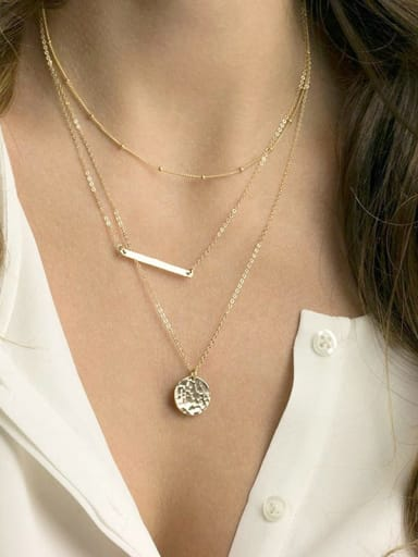 Stainless steel Geometric Dainty Multi Strand Necklace
