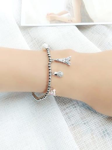 1 Alloy Cubic Zirconia Geometric Vintage Beaded Bracelet