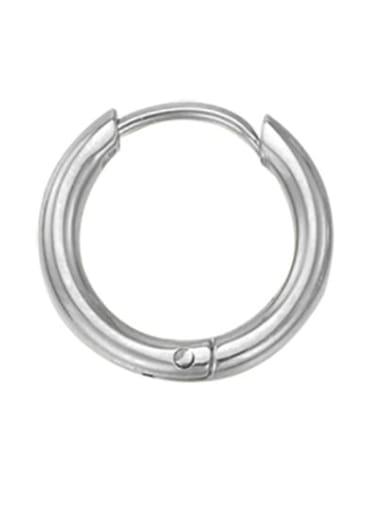 8mm steel color Stainless steel Round Minimalist Hoop Earring
