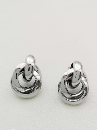 White K Copper Irregular Minimalist Stud Earring