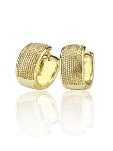 Brass Cubic Zirconia Round Minimalist Earring