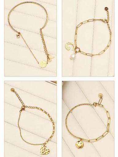 Stainless steel Hollow Geometric Vintage Link Bracelet