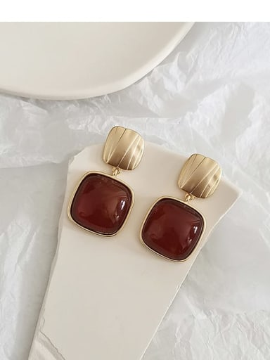 Sub golden red Copper Acrylic Geometric Vintage Drop Earring