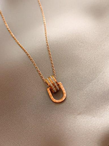 Titanium Rhinestone Ceometric Trend Necklace