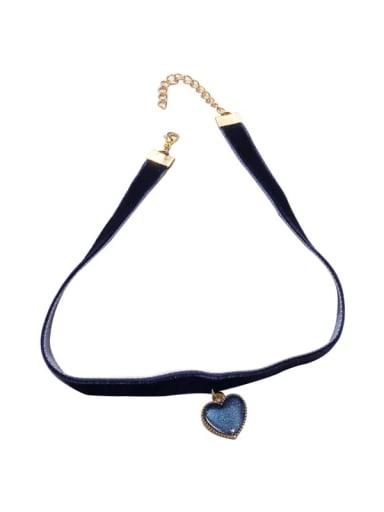 Zinc Alloy Blue Ball Classic Choker Necklace