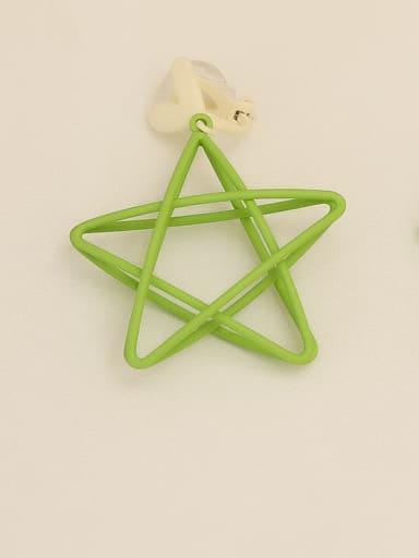 Green [ear clip] Copper Enamel Star Minimalist Stud Earring