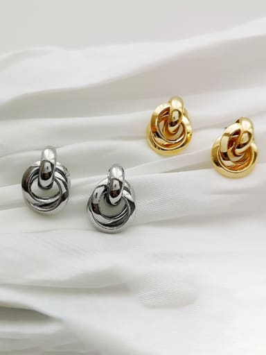 Copper Irregular Minimalist Stud Earring