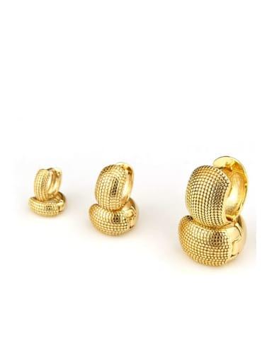 Brass Round Minimalist Huggie Earring
