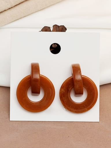 Coffee color Copper Acrylic Geometric Vintage Drop Earring