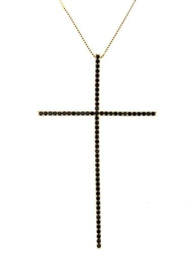 Brass Cubic Zirconia Religious Minimalist Regligious Necklace