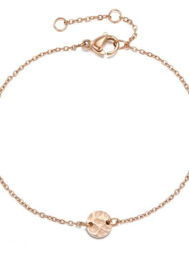 rose gold Stainless steel Round Minimalist Bracelet