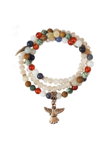 Alloy Carnelian Eagle ethical Charm Bracelet  or necklace