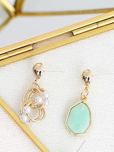 green Copper Resin Geometric Bohemia Drop Earring