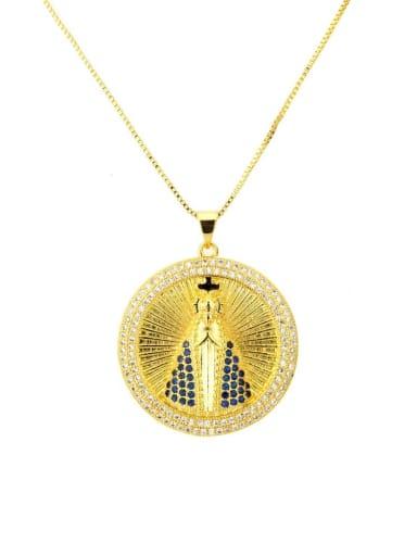 Brass Cubic Zirconia Religious Ethnic Regligious Necklace