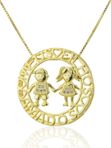Boys and girls Brass Rhinestone  Locket Dainty Necklace