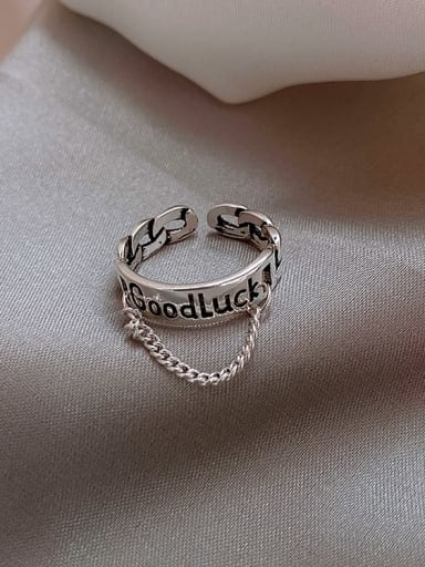 goodluck Alloy +Star With Rabbit Trend Band Ring/Free Size Ring