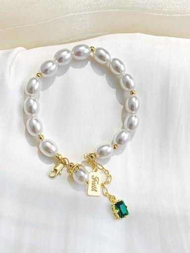Alloy Imitation Pearl Geometric Trend Adjustable Bracelet