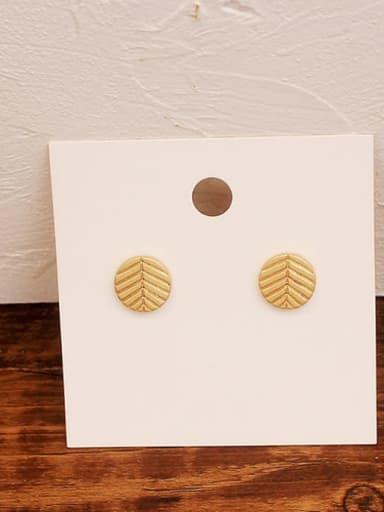 Dumb gold Copper Geometric Minimalist Stud Earring
