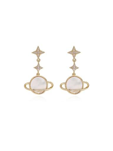 Copper Shell Star Minimalist Drop Earring