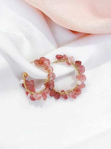 Alloy Irregular Crystal  Minimalist Stud Earring