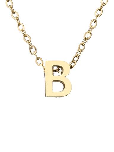B 14K Titanium Letter Minimalist Initials Pendant Necklace