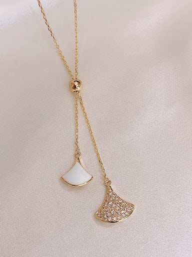 White Necklace Zinc Alloy Cubic Zirconia White Enamel Trend Drop Earring/Necklaces